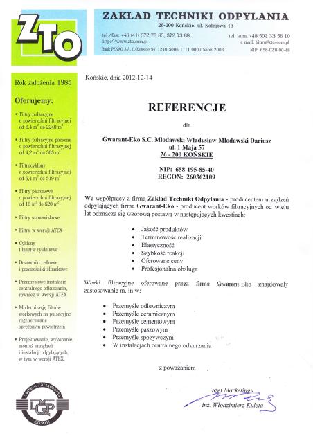 ZTO referencje